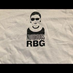 Russell Athletic Shirts - Notorious RBG T-Shirt WHITE Ruth Bader Ginsberg